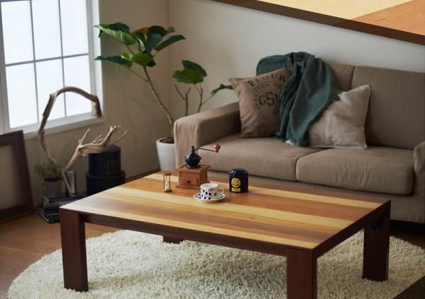 ミックスブラウン ミックスウッド ヴィンテージデザインこたつテーブル【ardor】アルドル