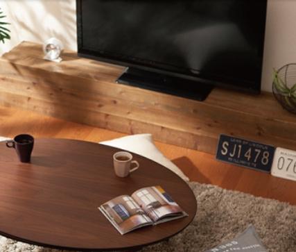 ウォールナットこたつとテレビボード