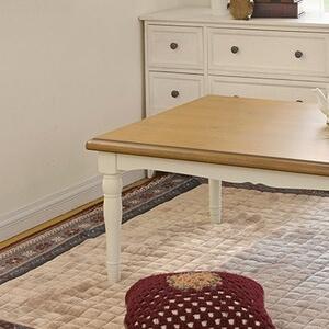 フレンチカントリー調こたつテーブル『シャンブル』75x75cm